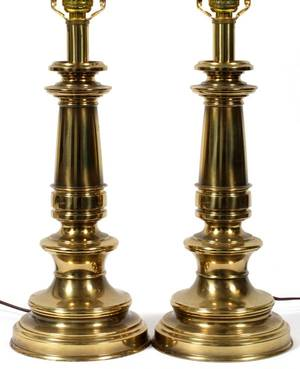 Realized Price For Stiffel Brass Table Lamps Pair