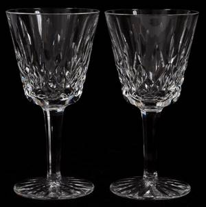 WATERFORD LISMORE CRYSTAL CLARET WINES 6