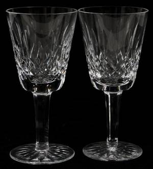 WATERFORD LISMORE CRYSTAL CLARET WINES 14