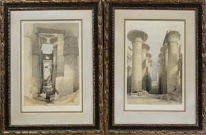 DAVID ROBERTS RA LITHOS GREAT HALL  KARNAK