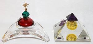 BACCARAT CRYSTAL PERFUME BOTTLES TWO