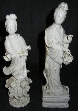 CHINESE FIGURES OF QUAN YIN TWO H 9 12