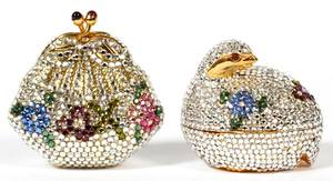 JUDITH LEIBER CRYSTAL COIN PURSE  PILL BOXES