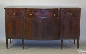 Pennsylvania Sheraton mahogany sideboard ca 1820