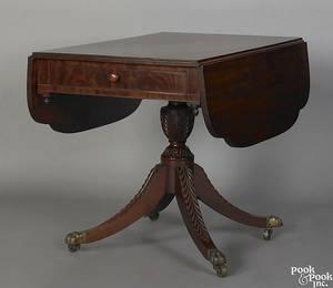 New York Federal mahogany pembroke table ca 1810