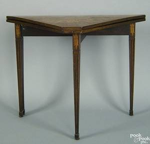 Continental mahogany game table early 19th c
