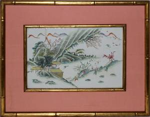 CHINESE PORCELAIN PLAQUE 19TH CENTURY ANTIQUE