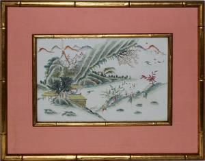 CHINESE PORCELAIN PLAQUE 19TH CENTURY ANTIQUE