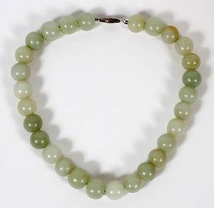 JADE BEADED NECKLACE L 15 12