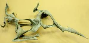 David Burt Abstract Bronze Sculpture Deer