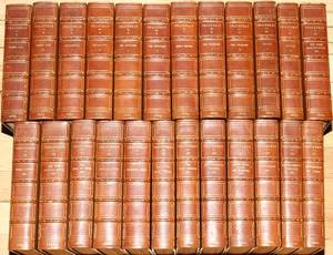 WORKS OF WILLIAM MAKEPEACE THACKERAY LEATHER