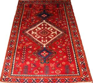TURKISH HAND WOVEN WOOL RUG 6 3 X 4 2