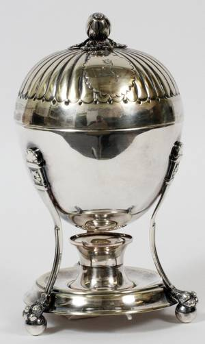 SILVERPLATE CHAFING DISH  EGG CODDLER 20TH C
