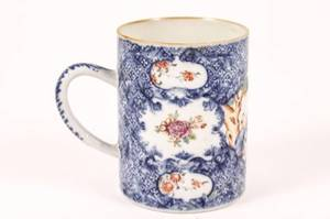 Chinese Export Porcelain Famille Rose Mug