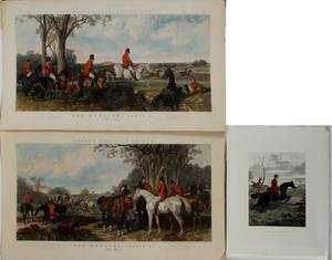 J HARRIS COLOR ENGRAVINGS FOX HUNT PRINTS