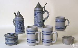 Stoneware to include 2 steins