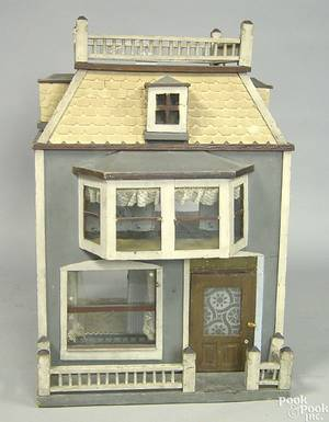 Victorian carved and painted dollhouse