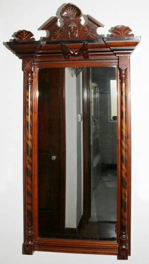 Realized Price For Renaissance Revival Walnut Mirror