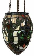 LEADED ART GLASS SHADE H 23