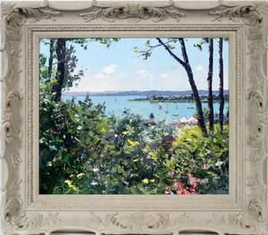 PIERRE BITTAR OIL ON CANVAS HARBOR SPRINGS