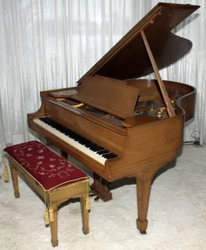 STEINWAY MAHOGANY BABY GRAND PIANO C1934 BENCH