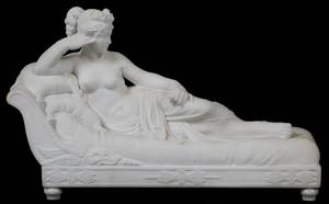 CARVED ITALIAN MARBLE SCULPTURE MADAME RECAMIER