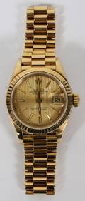 ROLEX 18KT OYSTER PERPETUAL DATEJUST LADY WATCH