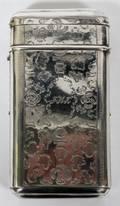 DUTCH SILVER CIGARMATCH CASE 1861