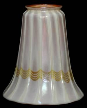 QUEZAL IRIDESCENT GLASS SHADE