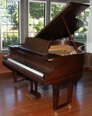 STEINWAY DUOART REPRODUCER MAHOGANY GRAND PIANO