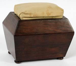 ENGLISH ROSEWOOD SEWING BOX LATE 19TH C