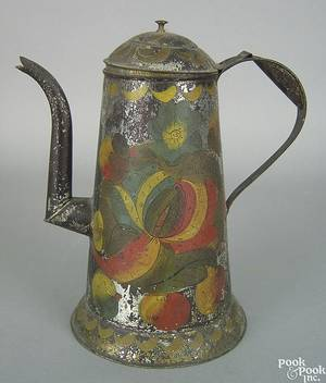 Toleware coffeepot 19th c