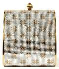 JUDITH LEIBER SILVER  GOLD MINAUDIERE