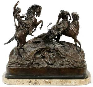 LANCERAY BRONZE SCULPTURE COSSACKS ON HORSEBACK