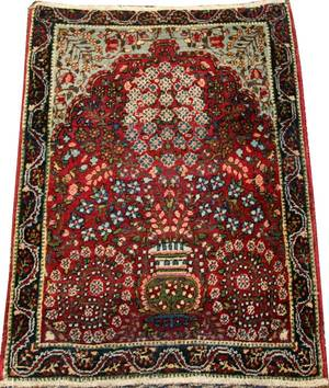PERSIAN KERMAN WOOL PRAYER RUG