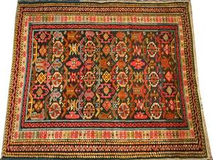 ANTIQUE PERSIAN SHIRVAN RUG HAND WOVEN WOOL