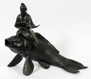 JAPANESE BRONZE FIGURAL CENSER