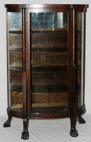 AMERICAN ANTIQUE OAK CHINA CABINET C1900