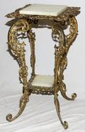 VICTORIAN BRASS OVER IRON STAND