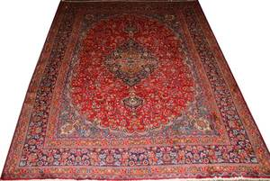 HAMADAN WOOL PERSIAN CARPET 12 11 X 9 6