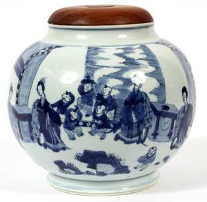 CHINESE BLUE  WHITE PORCELAIN JAR