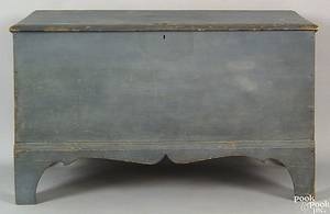 New England painted pine blanket chest early 19th c