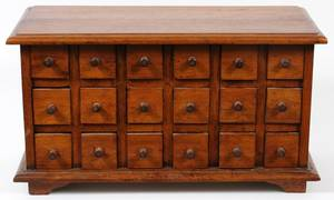 PINE 18 DRAWER APOTHECARY CHEST 19THC