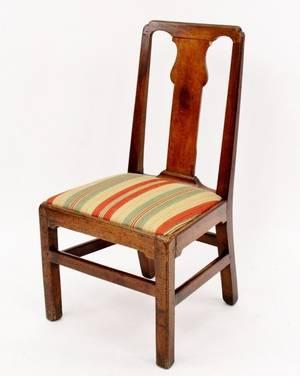 19th C Walnut Side Chair