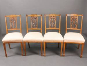 Set of Four Italian Neoclassical Side Chairs