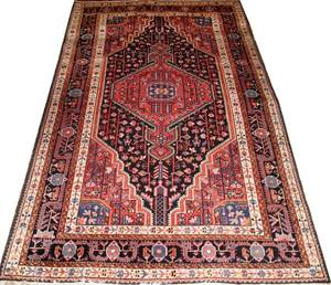 HERIZ PERSIAN HAND WOVEN WOOL RUG EARLY 20TH C