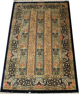 QUM PERSIAN PURE SILK RUG