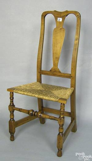 New England Queen Anne maple side chair