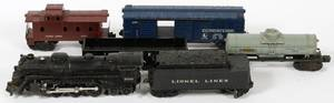 LIONEL TRAIN ENGINE TENDER BOX CAR TANKER COAL
