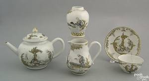 Chinese export porcelain partial tea service mid 18th c